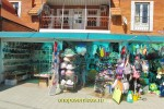 Торговые ряды с курортными принадлежностями в Джемете