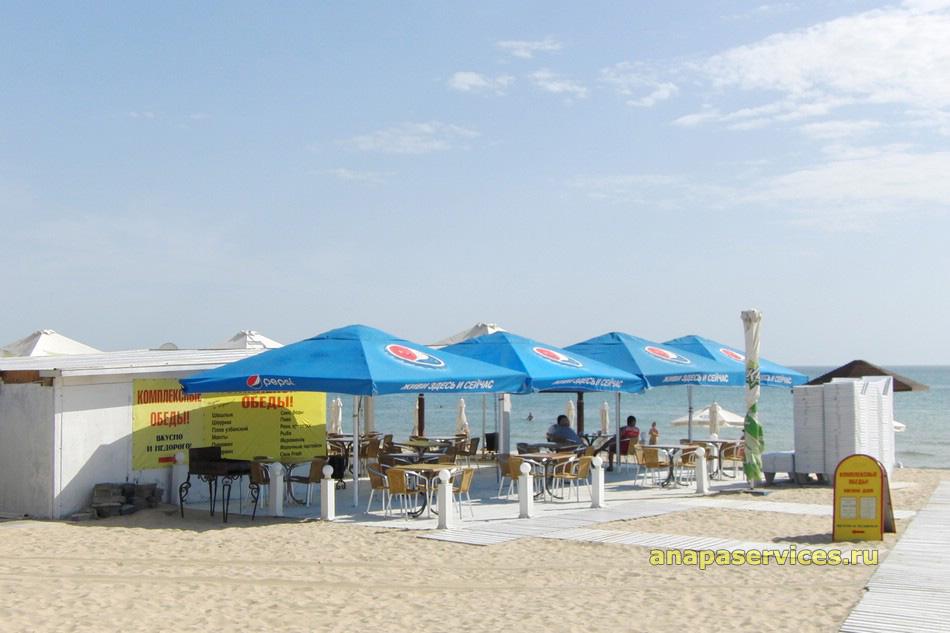 Пляжное кафе в курортном районе Джемете